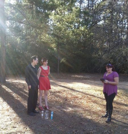 Park, forest, casual, sand ceremony, love